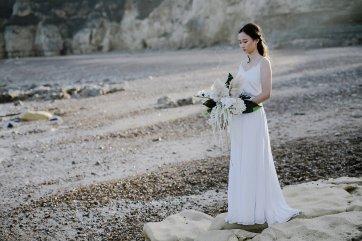 A Contemporary Coastal Bridal Shoot at Marsden Rock (c) Leanne Elizabeth Photography (20)