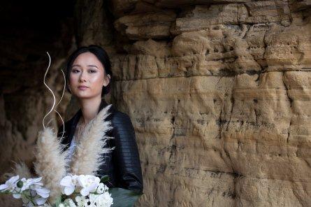 A Contemporary Coastal Bridal Shoot at Marsden Rock (c) Leanne Elizabeth Photography (4)