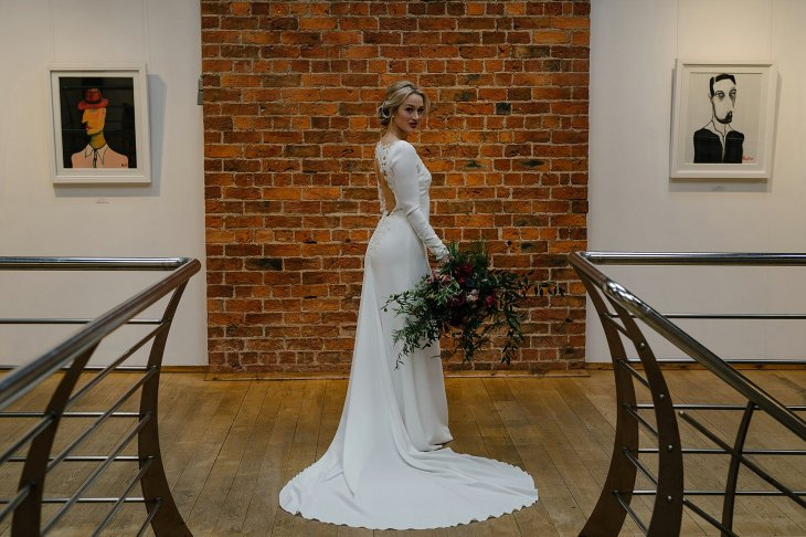 An Urban Styled Bridal Shoot at The Biscuit Factory (c) Dan McCourt (27)