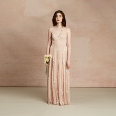 Olga Embroidery Daisy Champagne