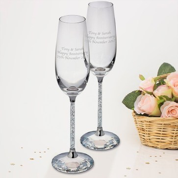 personalised-diamante-filled-champagne-glasses