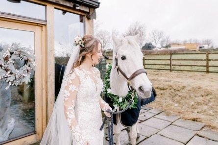 Pronovias Wedding Dress for a Winter Wedding at Mitton Hall (c) Kieran Bellis Photography for Brides Up North (16)