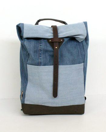 denin rucksack backpack handmade