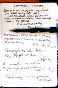 Exhibition comments
