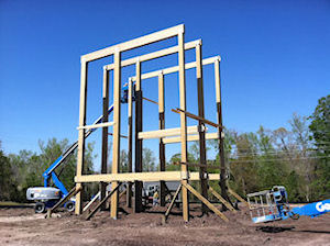 Rappelling Tower Construction at MARSOC