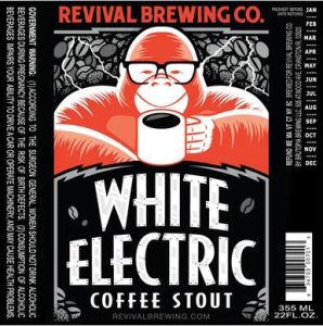 revival brewing white electric stout