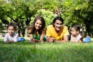 family-in-grass