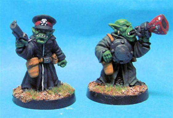 SF Goblin Commissar & Officer