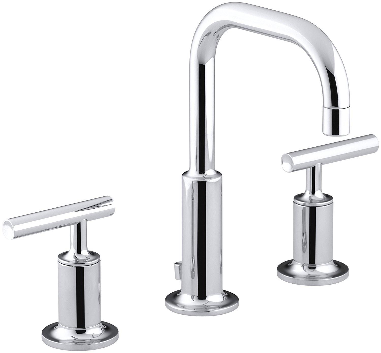kohler kitchen sink faucets cabinet glass doors elegant bathroom photograph