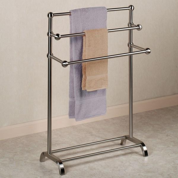Terrific Bathroom Towel Racks Free Standing Portrait