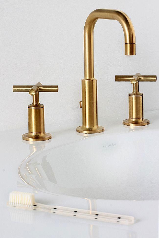 Finest Unlacquered Brass Bathroom Faucet Construction