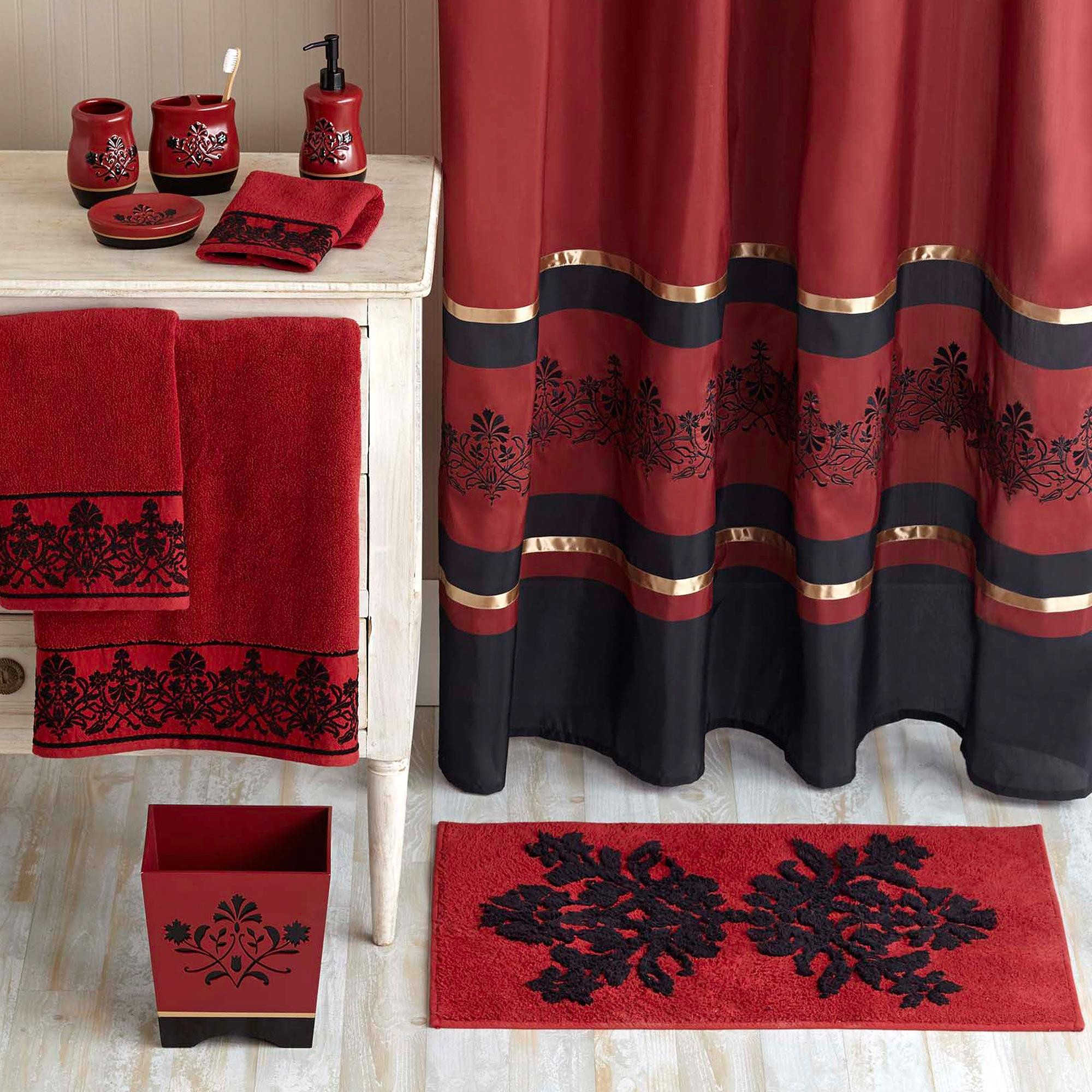 Red Bathroom Rug Fantastic Red Bathroom Sets Pattern Bathroom Design Ideas