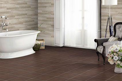 brown tile bathroom floor