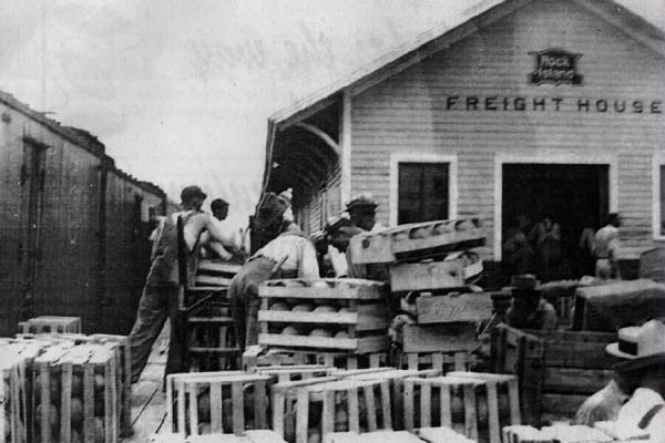 Freight House Shipping Watermelons 1932