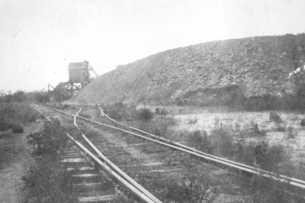 Track at Coal Mine for loading.