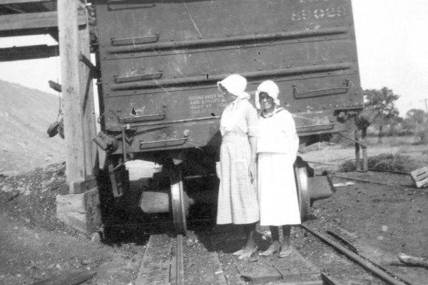 Ladies by Coal Car