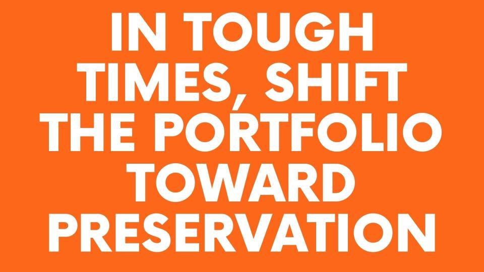 in tough times shift the portfolio toward preservation