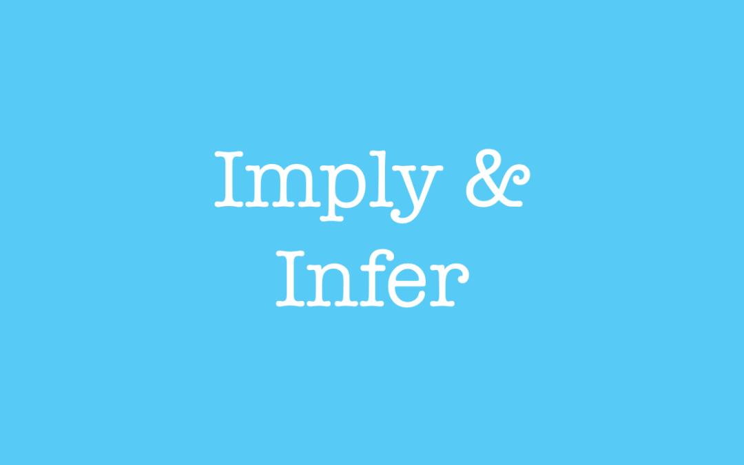 imply vs infer