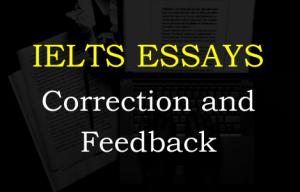 Ielts essay correction and feedback bridger-jones.com