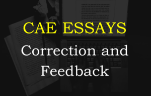 CAE essay correction and feedback