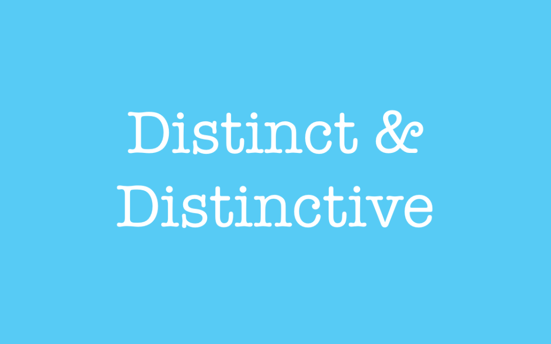 Using distinct and distinctive in English