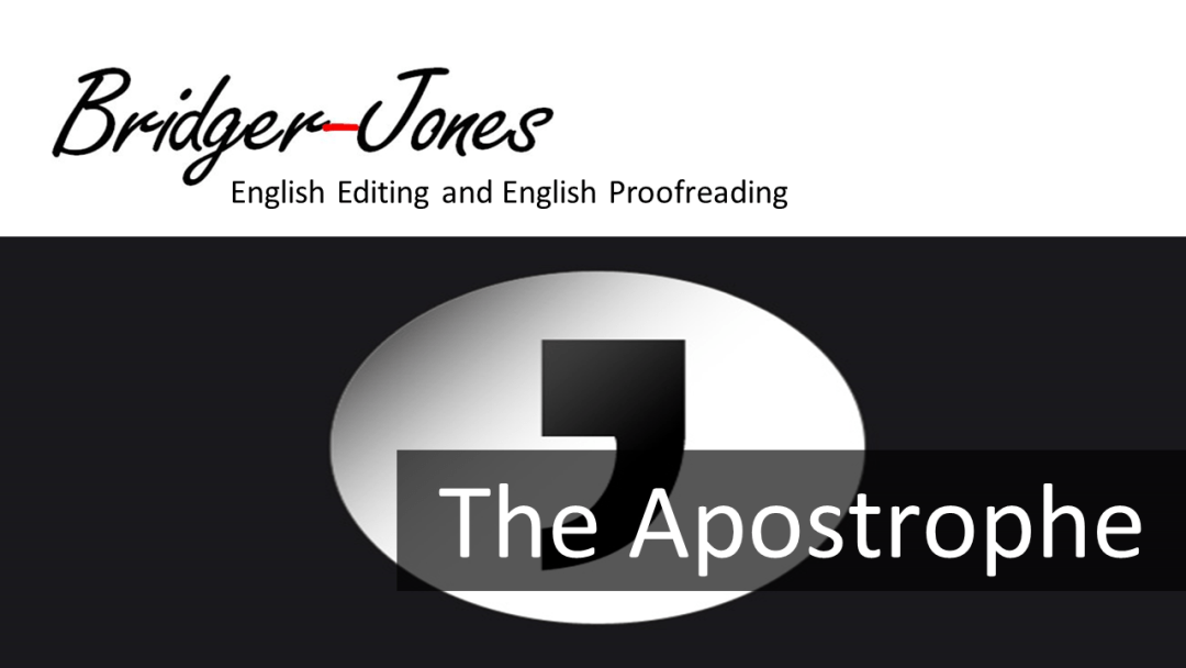 How to use the apostrophe in written English