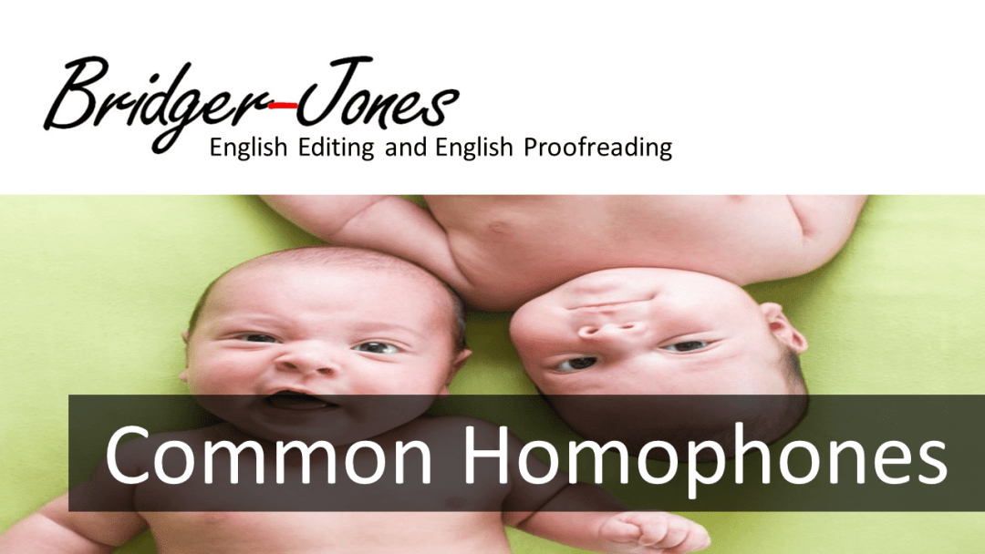 A list of common homophones