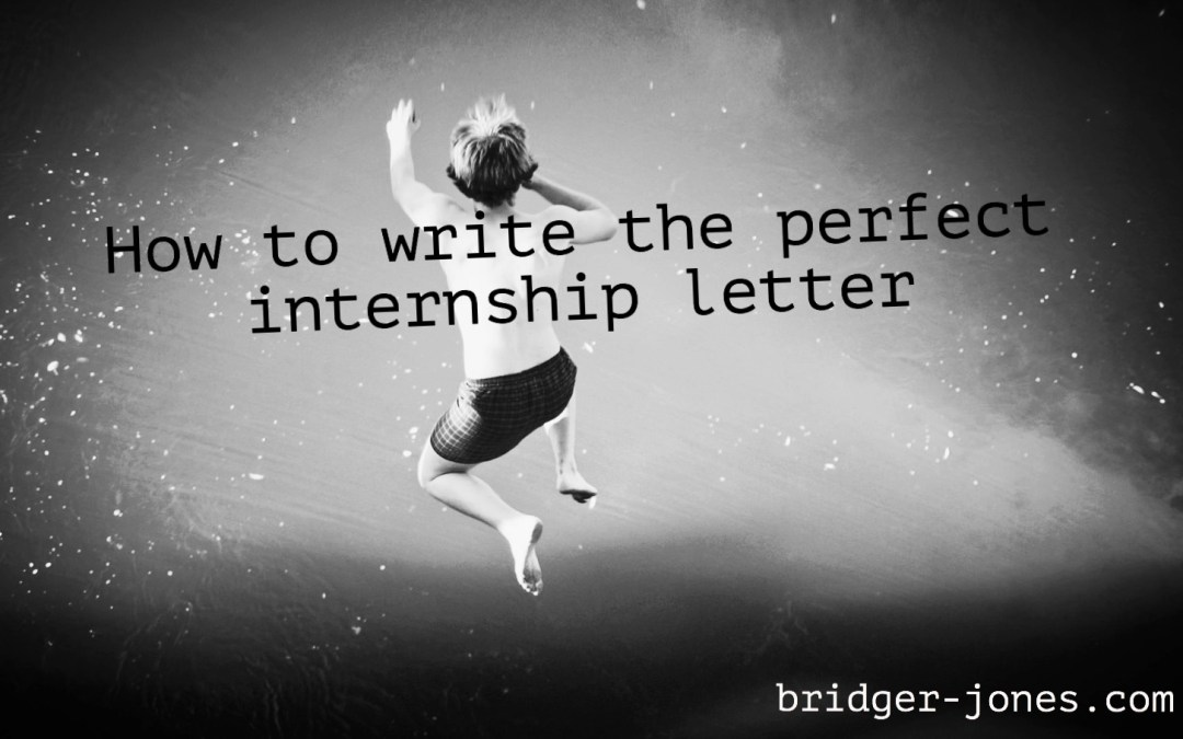 How to write a perfect internship letter