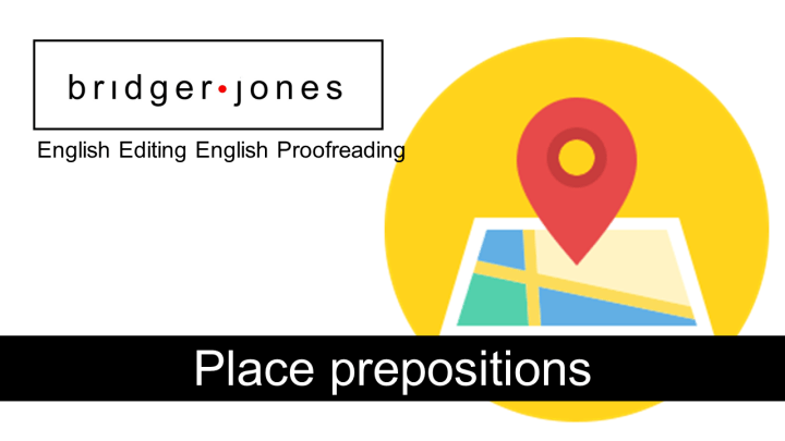 English place prepositions exercises