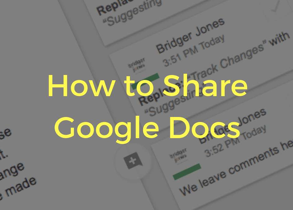 How to share your Google Docs document