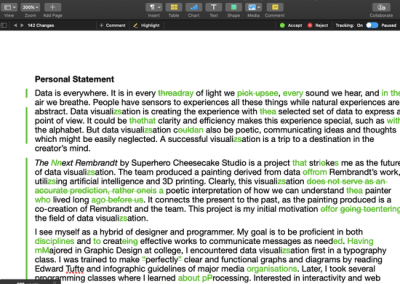 Editing and proofreading in Apple Pages