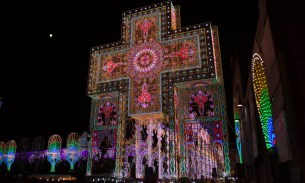 A psychedelic festival of lights in Italy