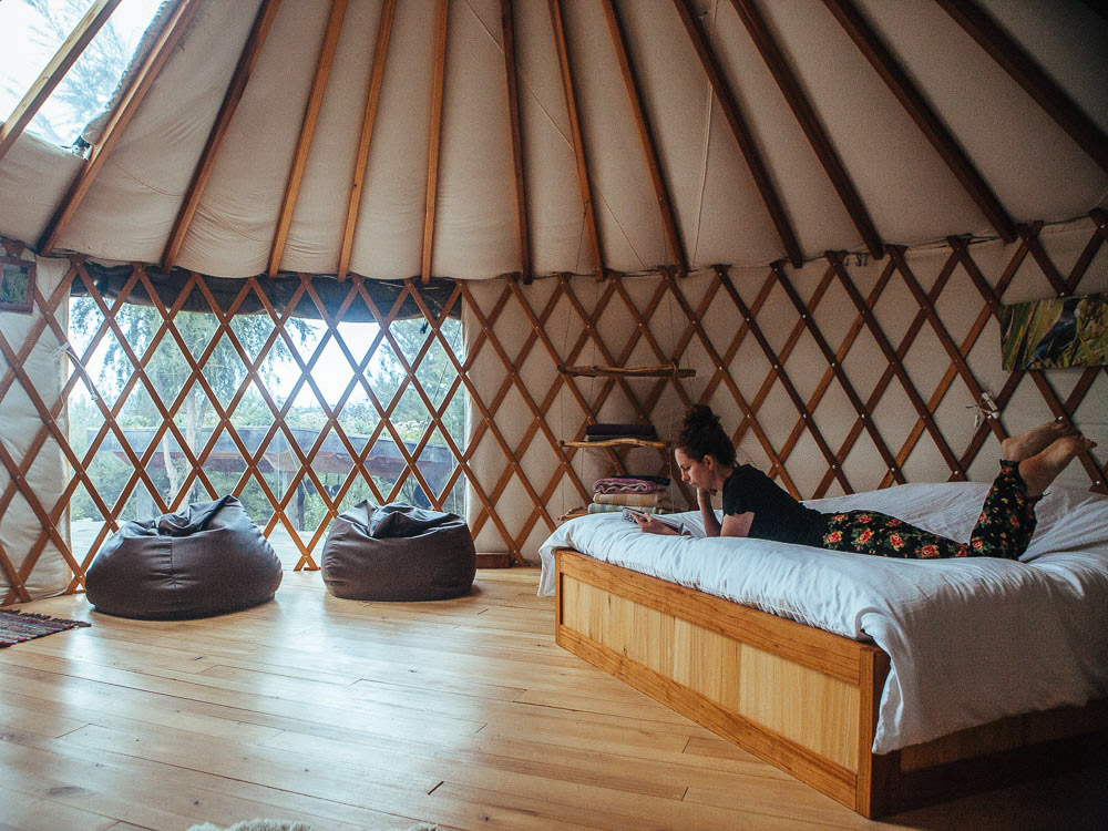 New Zealand road trip yurt