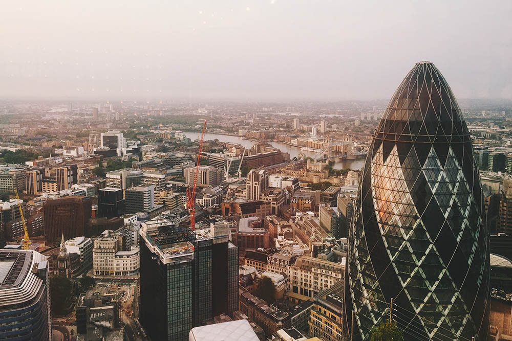 View from Duck and Waffle