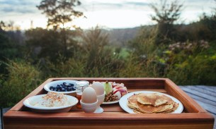 Sampling the paleo lifestyle in a New Zealand yurt