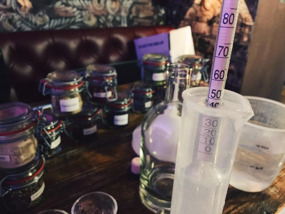 Edinburgh Gin Experience - alcohol thermometer