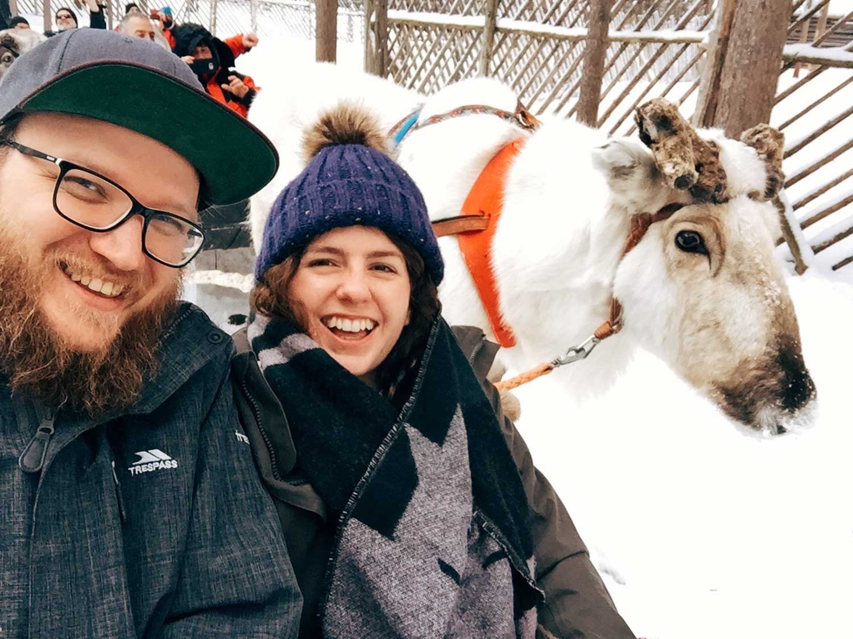 5-day Finland itinerary Northern Lights - Reindeer farm Jaakkola