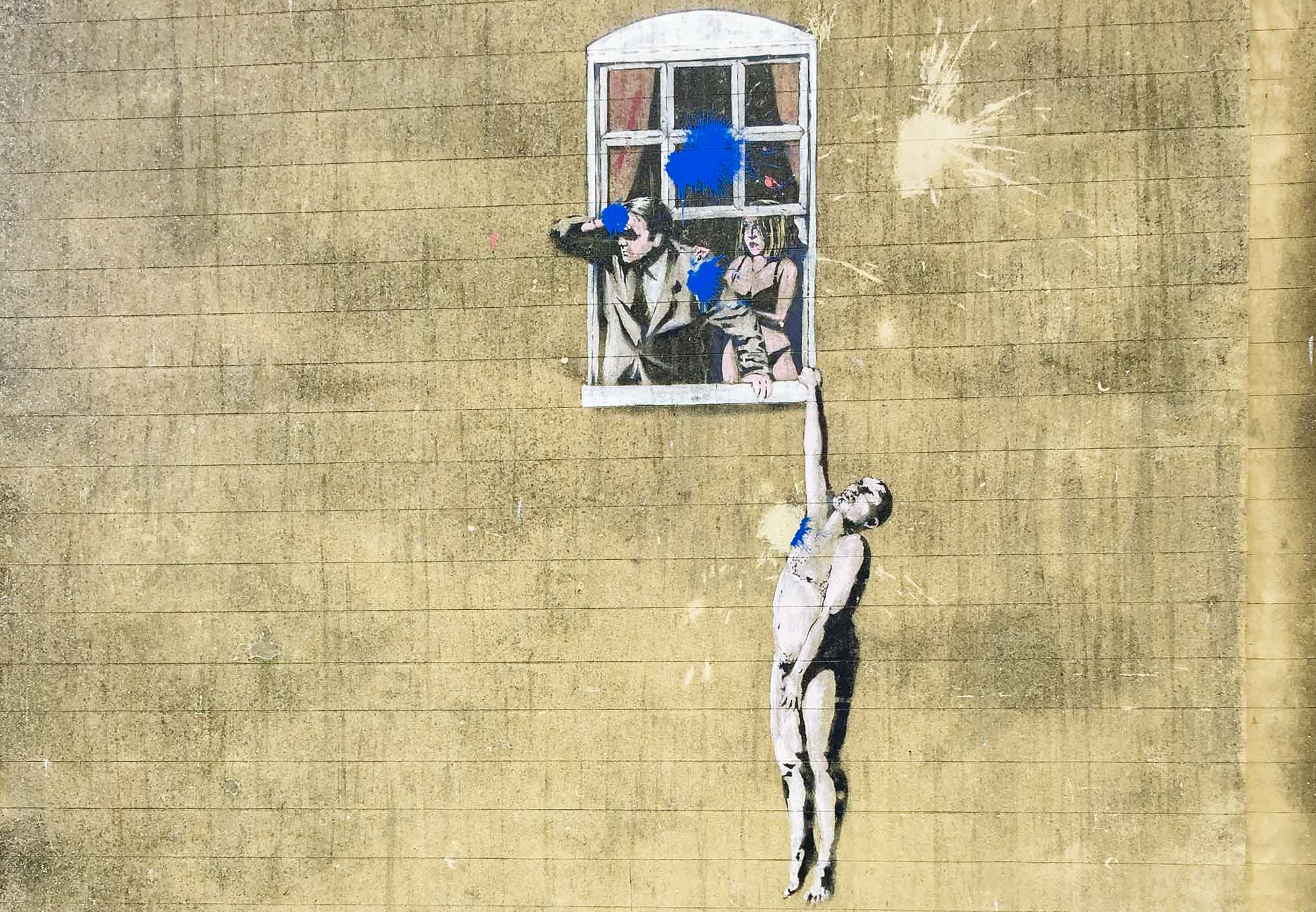 Things to do in Bristol - Banksy artwork in Bristol