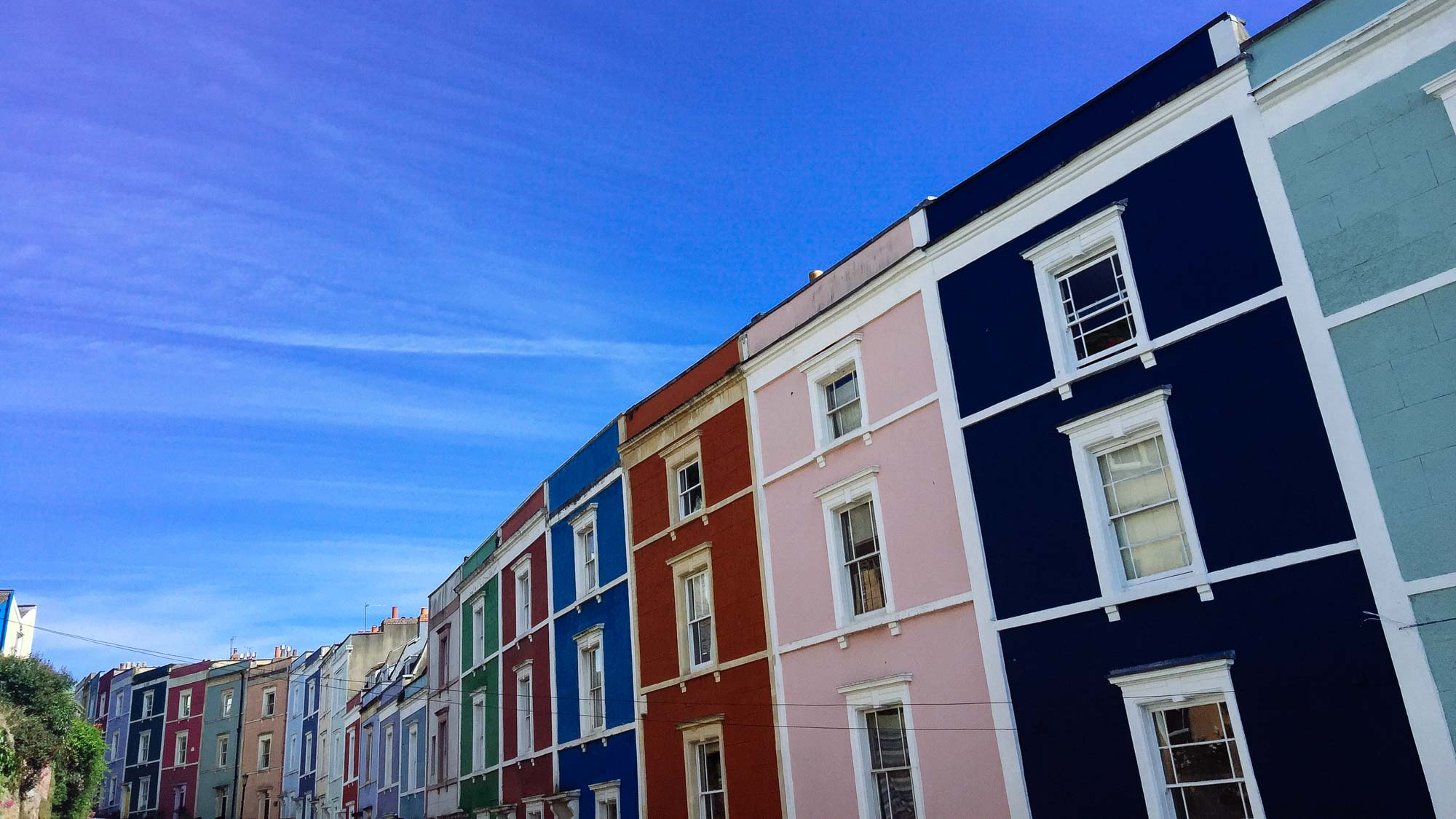 Things to do in Bristol - Colourful houses in Clifton, Bristol