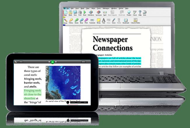 Kurzweil 3000 on laptop and K3000