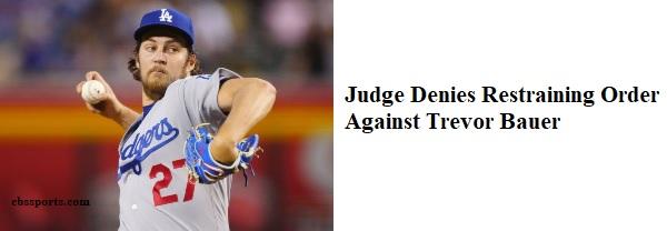 Judge Denies Restraining Order Against Bauer (M-T)