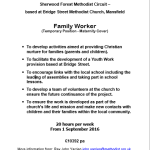 Family Worker Advert