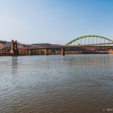 Fort Henry Bridge and Wheeling Suspension Bridge