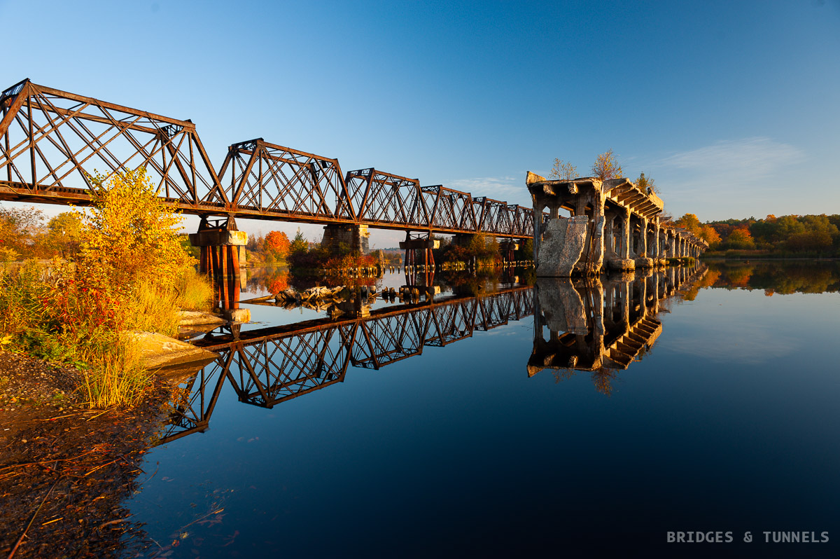 Escanaba Railroad Bridge and Bay Shore Road Bridge