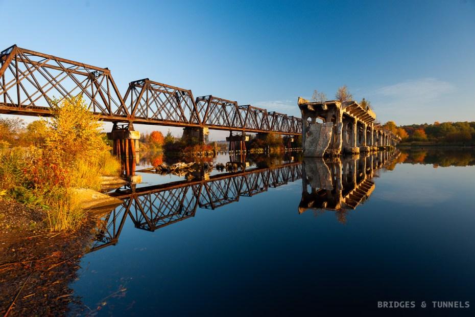 Escanaba Railroad Bridge and Bay Shore Road Bridge