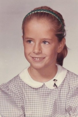 my ponytail school pic
