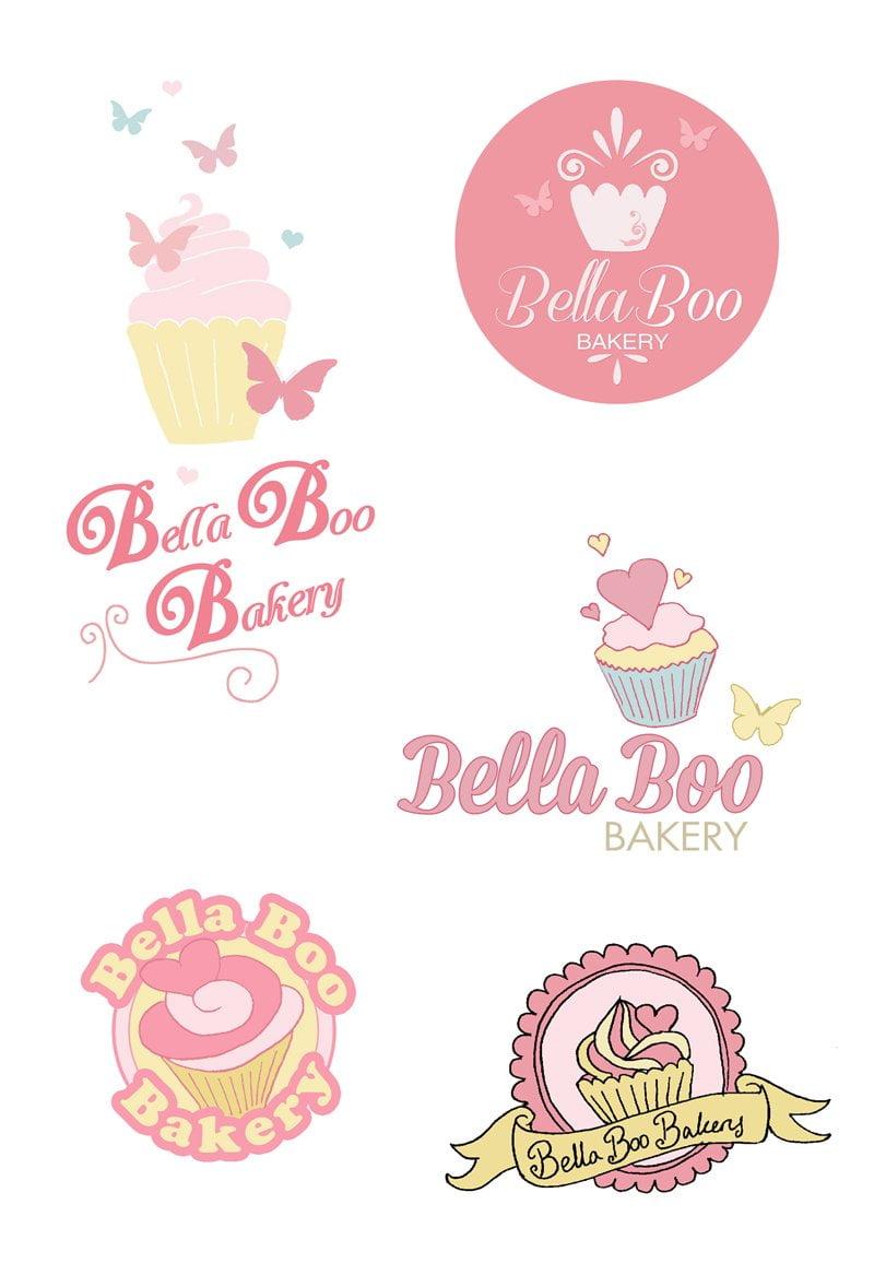 Bella Boo Bakery Logo Design Bridget Designs