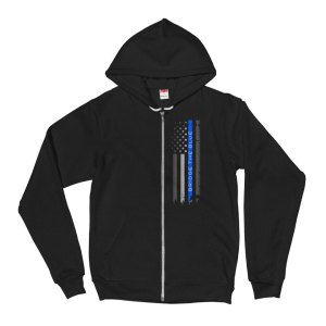 bridge the blue line flag hoodie