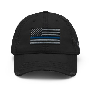 thin blue line distressed hat front