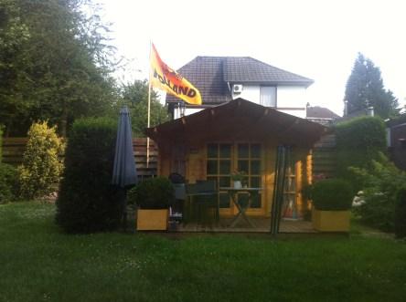 Where we slept in Marita's little garden house